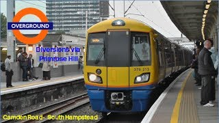 (HD) London Overground Diversions | Camden Road - South Hampstead via Primrose Hill. | 29/09/2013