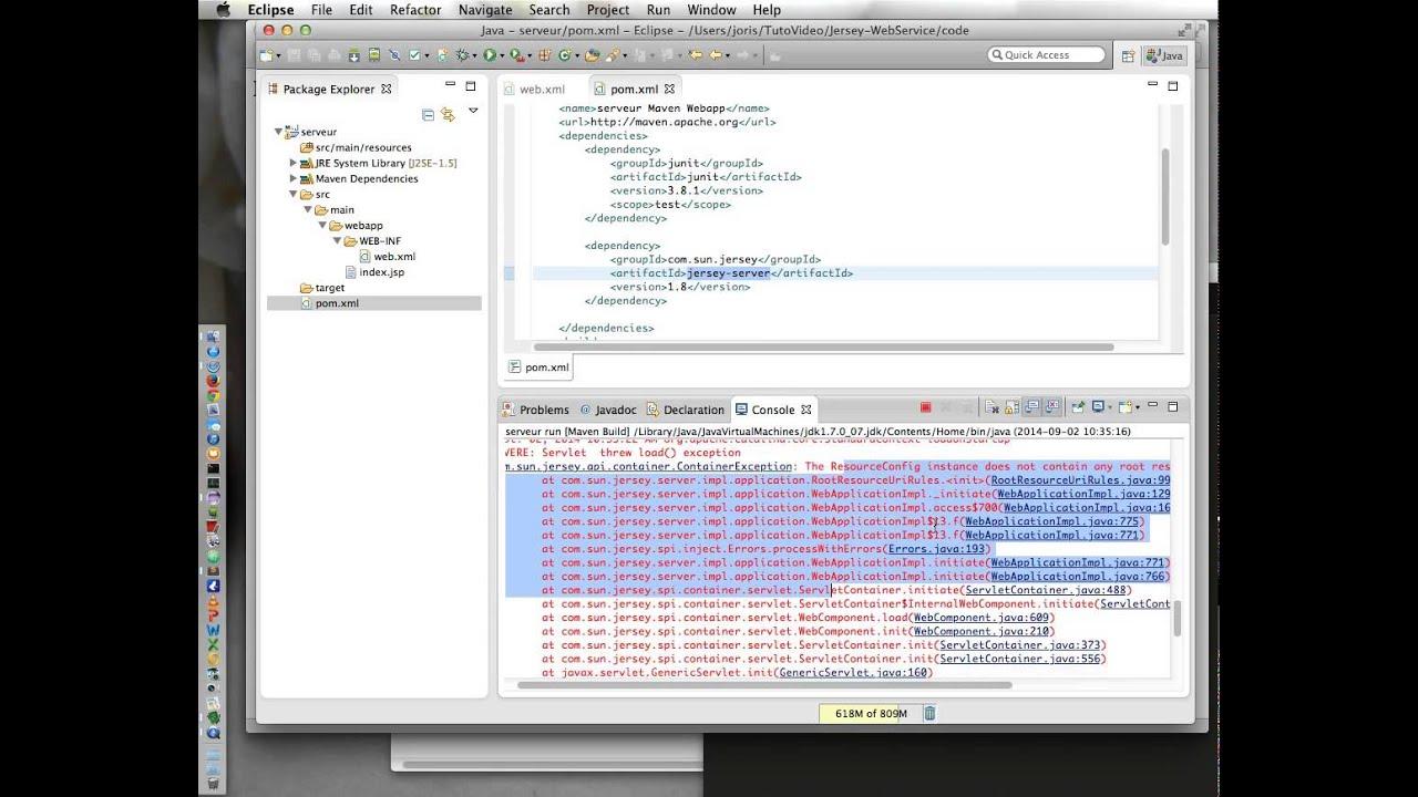 Java Web Service 1 : Mise en place de base Tomcat Jersey et Maven (french  français))