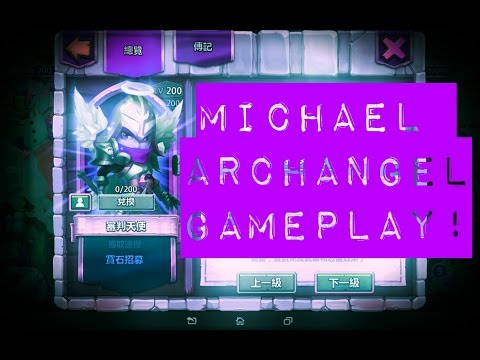 Castle Clash; MICHAEL ARCHANGEL GAMEPLAY + FULL STATS REVIEW!
