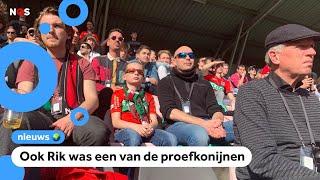 Na maanden weer fans bij voetbalwedstrijd