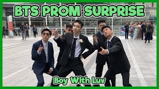 BTS High School Prom Dance in Public! (Boy With Luv) - Surprise Kpop Dance Cover