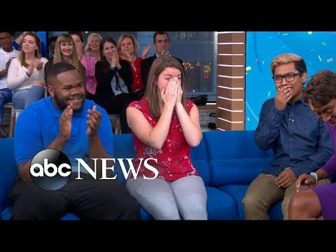 College Board surprises 3 students with $40,000 scholarships on 'GMA'