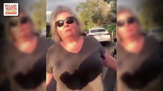 Crazy A$$ Woman Harasses A Black Man For Taking Out The Trash While Black