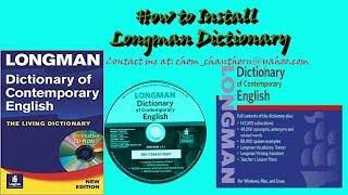 How to Install Longman Dictionary of Contemporary English 2017 ====...