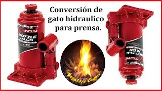 COMO INVERTIR GATO HIDRAULICO / HOW  TO UPSIDE DOWN A  HYDRAULIC JACK