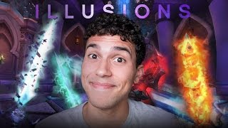 ALL WEAPON ILLUSIONS! - WoW LEGION TRANSMOGS