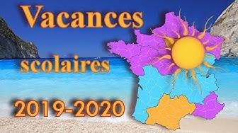 CALENDRIER DES VACANCES SCOLAIRES 2019 - 2020 FR