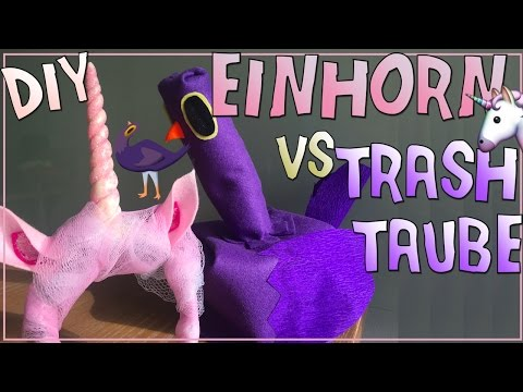 Einhorn oder Trash Taube?? ✮ EASY Fasching/Karneval Kostüm ♥ DIY Trash Dove Unicorn