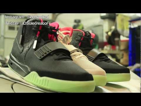 Authentic Air Yeezy 2 vs Replica Air Yeezy 2 (Please watch)