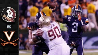 Florida State Vs. Virginia Football Highlights 2019
