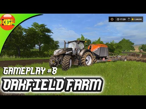 Oakfield Farm Gameplay #8- Timelapse planting crops and creating new fields! Farming simulator 17