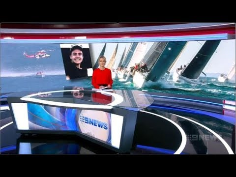 2019 Melbourne To Geelong Race. Channel Nine News Bulletin On WHITE SPIRIT Incident