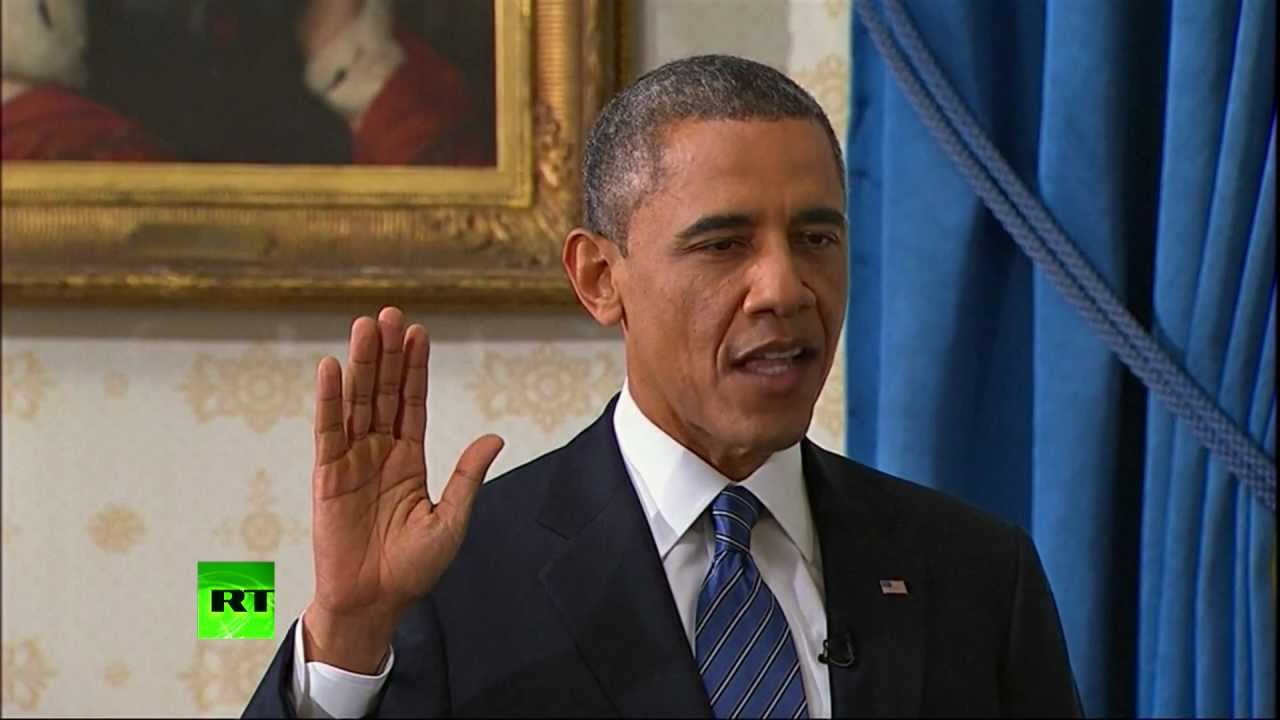 Video barack obama takes oath of office for second term - When is obama out of office ...