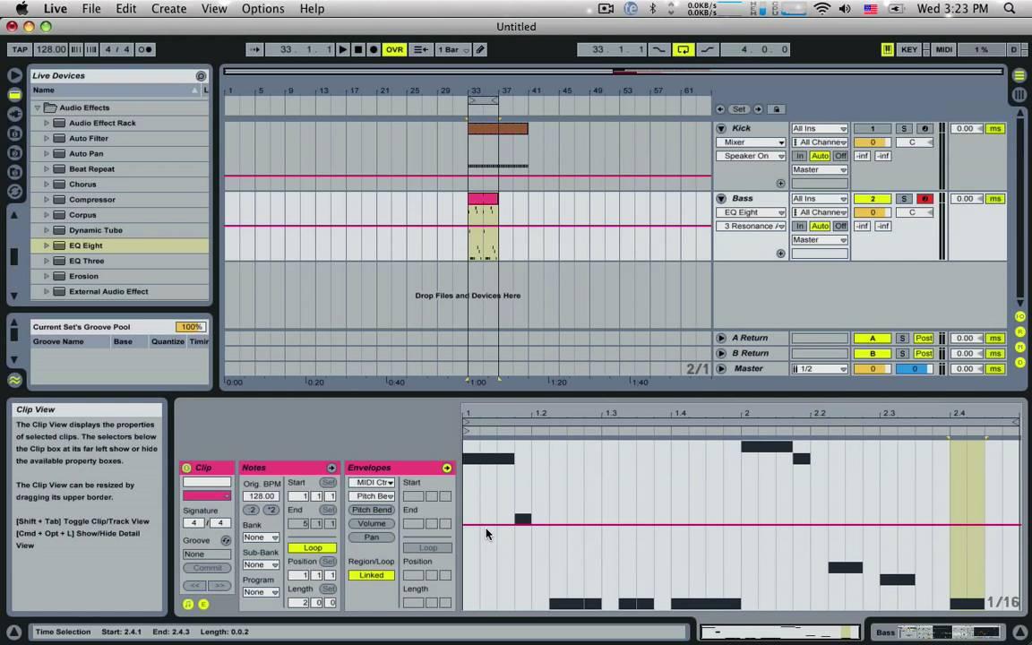 Ableton Live Sound Design - Basslines Part 1