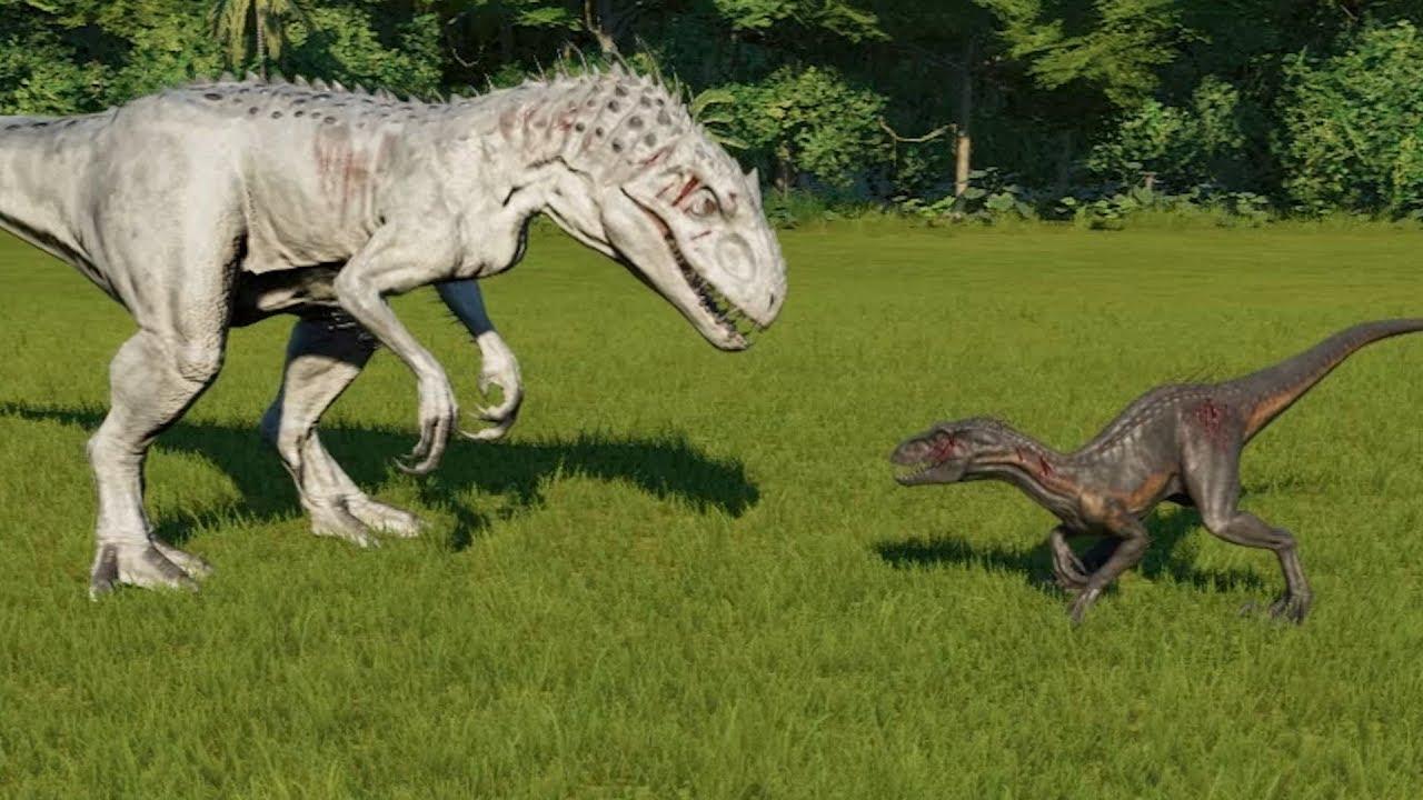 Indoraptor VS Indominus Rex Jurassic