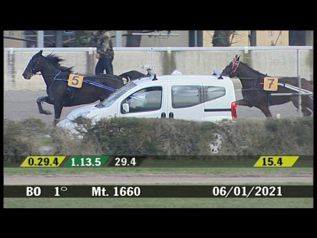 2021 01 06 | Corsa 1 | Metri 1660 | Premio Trotto&Turf