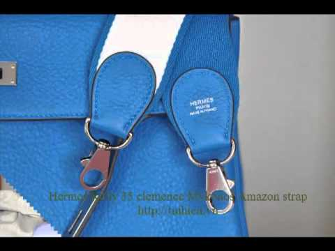 hermes replica handbags - Hermes Kelly 35 clemence Mykonos Amazon strap - tuihieu.com - YouTube