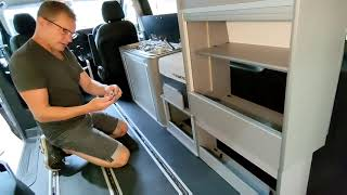 How to fit a Vangear campervan Maxi Modular system