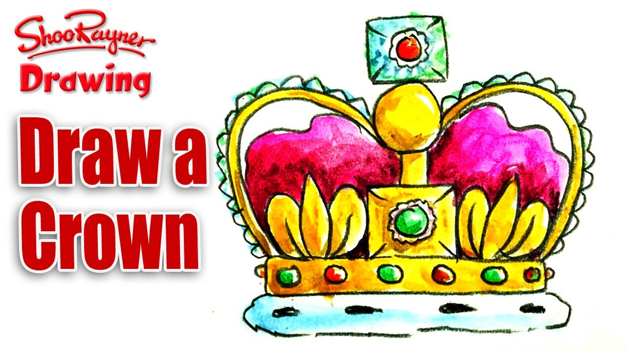 how to draw a crown youtube