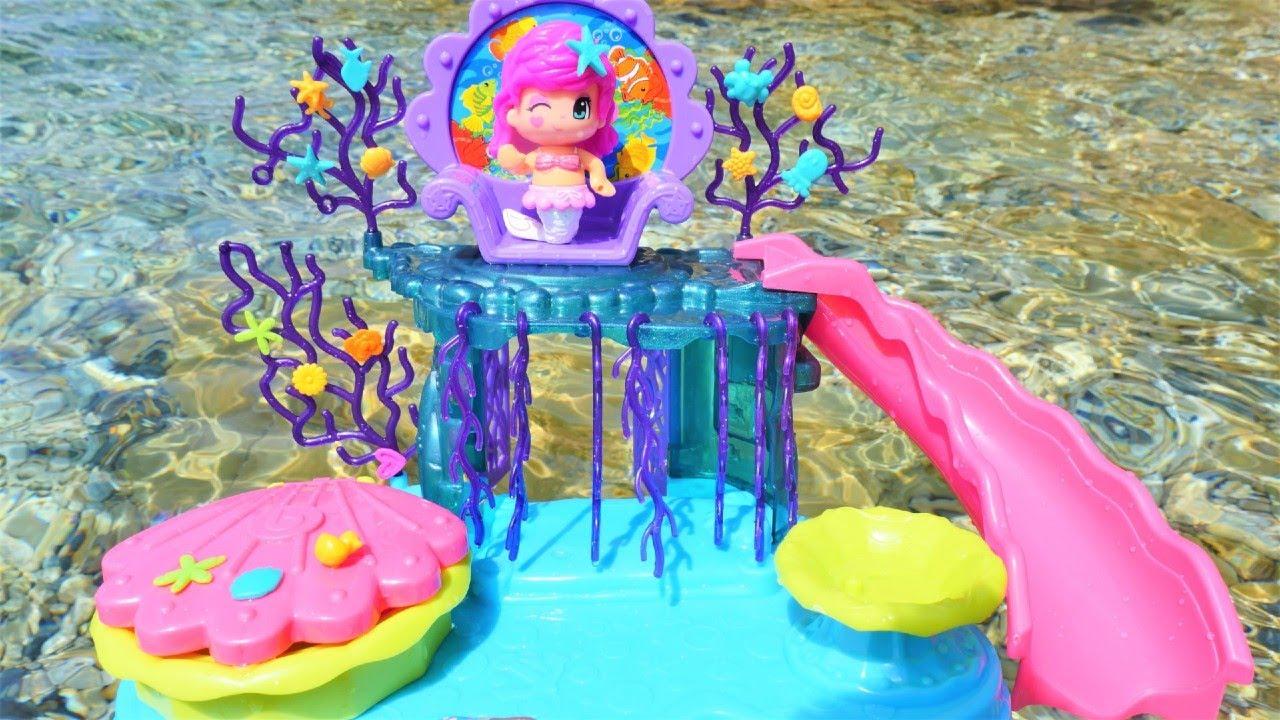 Pinypon deniz kızı ülkesi oyun seti. Havuz ve deniz oyunu! Pinypon dönüşüm videosu!