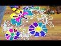 Colorfull Butterfly Rangoli Design | Unique Butterfly Rangoli Designs without Dots
