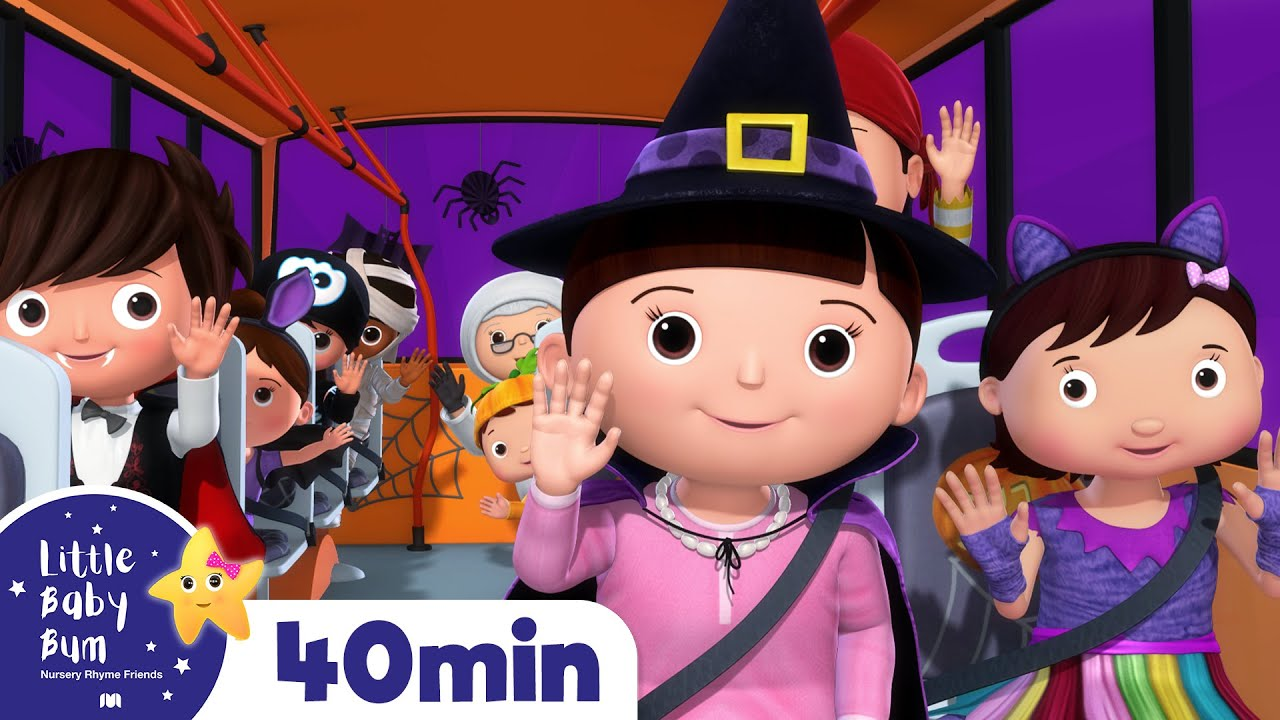 Halloween Special Compilation   Wheels on The Bus + More Halloween Songs for Kids   Little Baby Bum