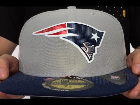 Patriots  2015 NFL DRAFT  Grey-Navy Fitted Hat by New Era - YouTube 13767e1a9
