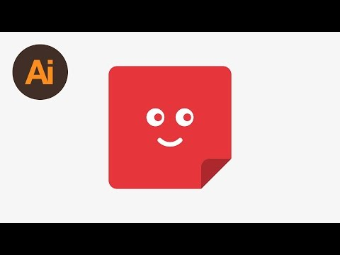 Learn How to Draw a Vector Sticky Note in Adobe Illustrator | Dansky