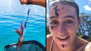 Baby Moose Saved From Drowning In Lake