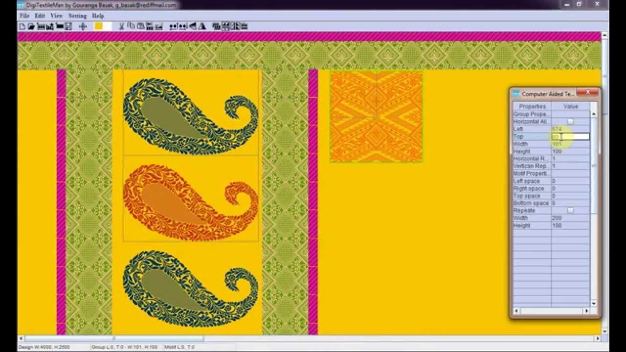 Textile Design Process Youtube
