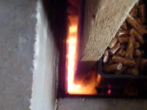 mini rocket mass heater - YouTube
