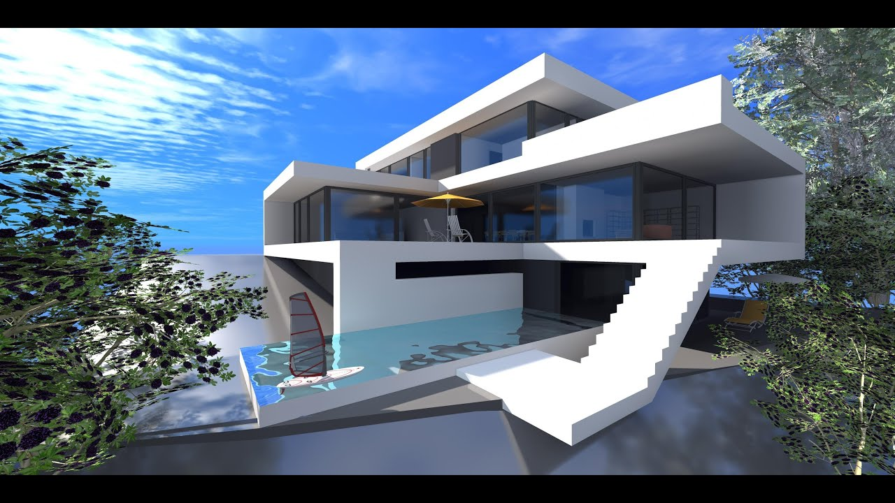 Minecraft speed build epo2 modern house 1 youtube for Modern house building