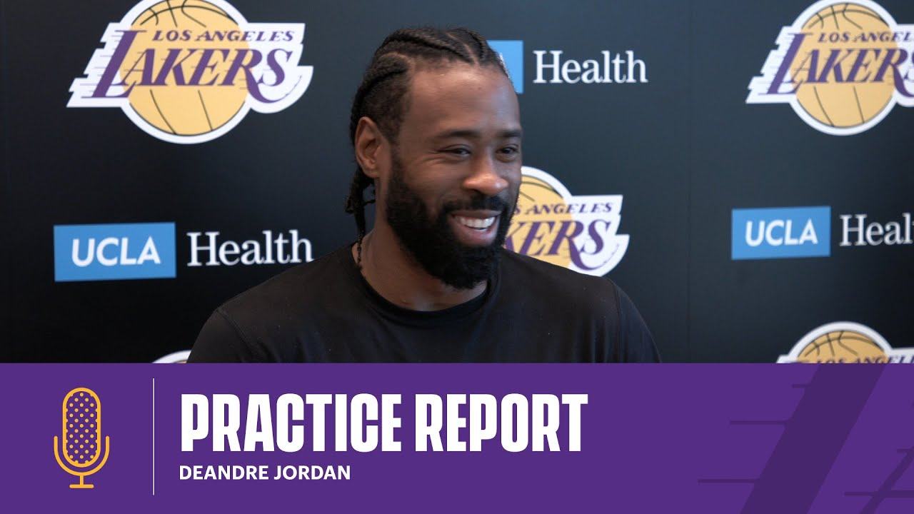 DeAndre Jordan explains his role as a rebounder and rim protector within the Lakers scheme