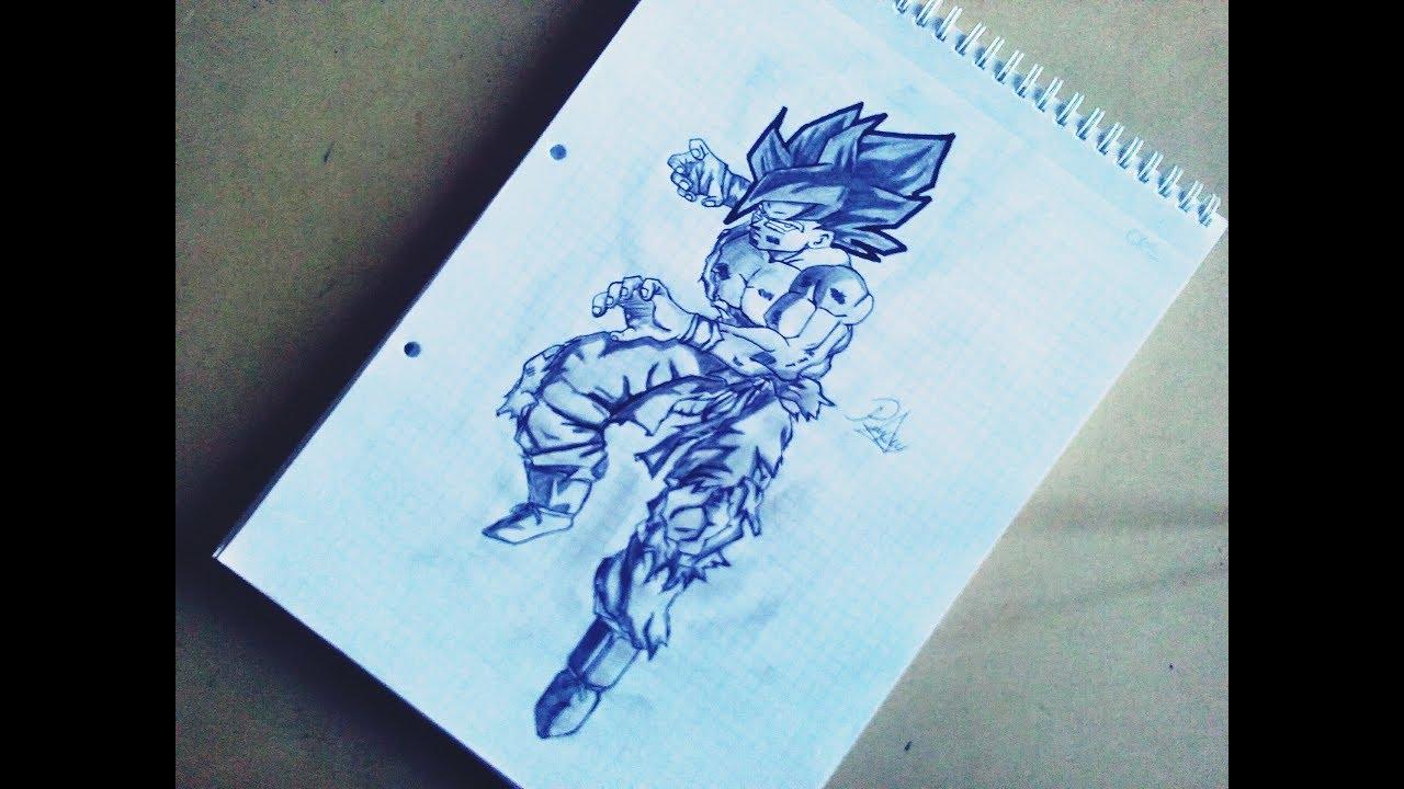 Dragon Ball Gogeta Cuerpo Completo Para Dibujar