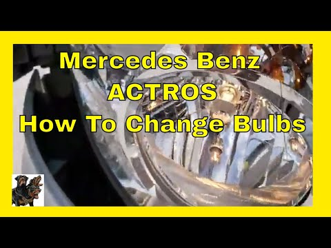 Mercedes Actros - Bulb replacement