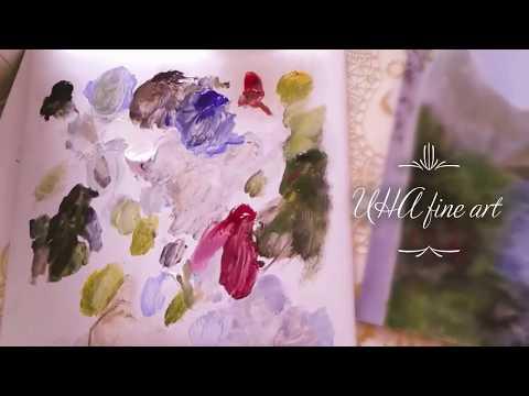 landscape painting – time lapse