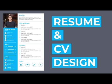 How To Create The Resume CV Design Using HTML And CSS -- Resume Design -- CV Design