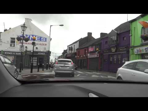 Drive through Athlone, Ireland