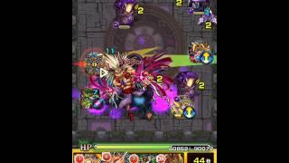 【モンスト】常闇の神殿 時の間・修羅場をノーコンクリア攻略動画