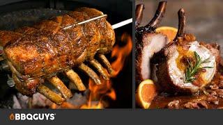 Pork Loin Rib Roast with Bourbon Pepper Jelly Glaze  Rotisserie Recipe on a Kamado  BBQGuys
