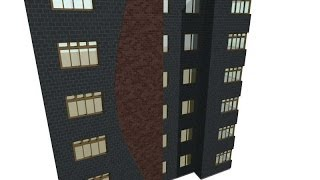 Applying two different building materials on facade