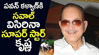 Superstar Krishna Gives OPEN Green Challenge To Pawan Kalyan Rajinikanth andamp; Venkatesh | Filmylooks
