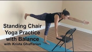 Standing Chair Yoga Practice with Balances