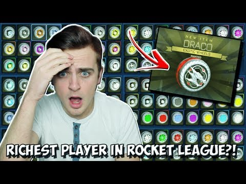 STRIKER OF EVERY PAINTED EXOTIC | RICHEST ROCKET LEAGUE PLAYER EVER DONATES ME CRIMSON DRACOS & MORE