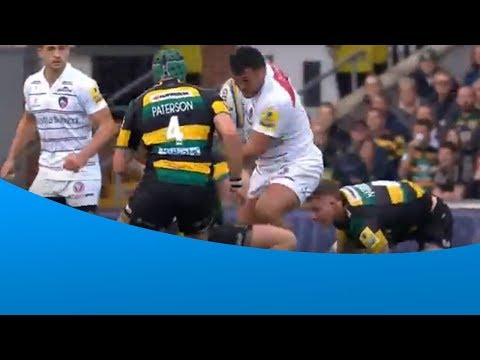 Here's what happens when Ellis Genge and Dylan Hartley collide...