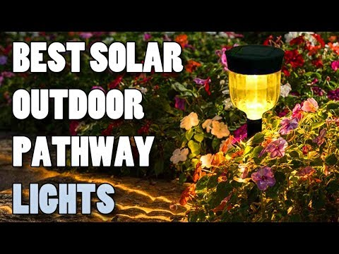 BEST Solar Lights Outdoor, 6 Pack Solar Pathway Lights Outdoor Garden Lights