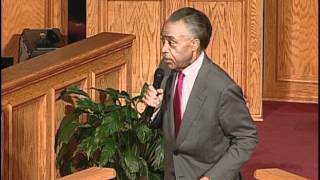 The Rev. Al Sharpton preaching at The Greater Allen Cathedral March Gladness Revival