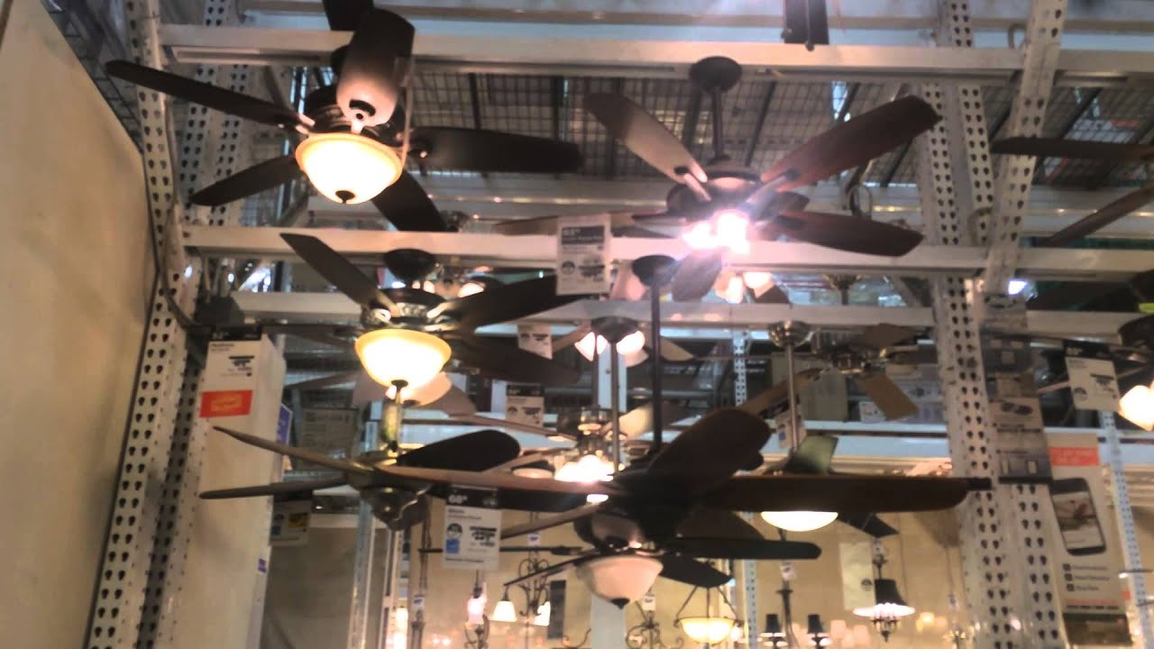 Ceiling fans on display at home depot in salem ma 2014 youtube aloadofball Choice Image