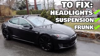 How I Fixed my Tesla Part 1: Headlights, Suspension, My Stupidity