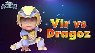 Vir: The Robot Boy | Vir Vs Dragoz | 3D Action shows for kids | WowKidz Action